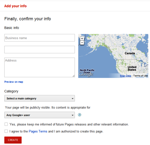 Google+ adding local business place