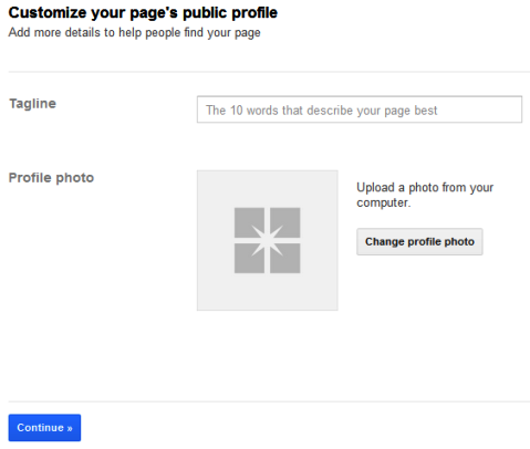 Google+ adding tagline and profile photo